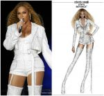 Beyonce Knowles In Roberto Cavalli  @ 'On The Run II' Tour Milan