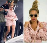 Beyonce Knowles In  Zimmermann On Private Jet