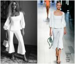 Beyonce Knowles Vacations In  Cushnie et Ochs