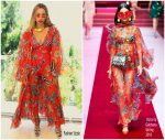 Beyonce Knowles Vacations In Dolce & Gabbana