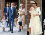 Catherine, Duchess of Cambridge In Alexander McQueen  @ HRH Prince Louis Of Cambridge Christening