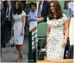 Catherine, Duchess of Cambridge In Jenny Packham  @ Wimbledon Championships