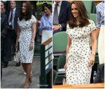 Catherine, Duchess of Cambridge In Jenny Packham  @ Wimbledon Championships