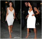 Kim Kardashian  In Dolce & Gabbana  @ Spago Restaurant in Los Angeles