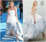 Lily James In Oscar de la Renta  @'Mamma Mia! Here We Go Again' World Premiere