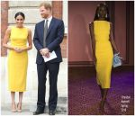 Meghan, Duchess of Sussex In Brandon Maxwell  @ 'Your Commonwealth' Youth Challenge Reception
