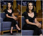Mila Kunis  In  Dolce & Gabbana  @'The Tonight Show' Starring Jimmy Fallon