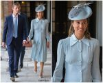 Pippa Middleton In Alessandra Rich  @  HRH Prince Louis Of Cambridge Christening