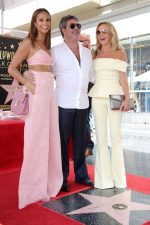 Alesha Dixon In Miguelina & Amanda Holden In SAFiYAA  @ Simon Cowell's Star On The Hollywood Walk Of Fame Ceremony
