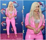 Bebe Rexha  In Laroxx & August Getty Atelier  @ 2018 Teen Choice Awards
