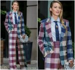 Blake Lively  In Roland Mouret  @ 'A Simple Favor' New York Promo Tour