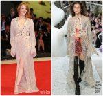 Emma Stone In Louis Vuitton  @ The Favourite' Venice Film Festival Premiere