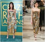 Gemma Chan In Oscar de la Renta  @ 'Crazy Rich Asians' LA Premiere