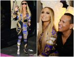 Jennifer Lopez In Versace  @ Jennifer Lopez's MTV VMA's Vanguard Award Celebration After-Party