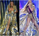 "Jennifer Lopez  In Versace  For Her  ""Michael Jackson Video Vanguard Award"" Performance"
