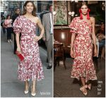 Jessica Biel In Johanna Ortiz  @ The Late Show With Stephen Colbert