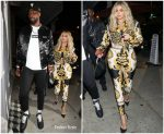 Khloe Kardashian In Versace Out  with  Tristan Thompson In LA