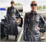 Lady Gaga In  Alexander Wang  Out In Paris