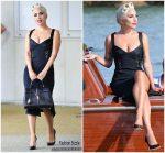 Lady Gaga In Jonathan Simkhai  @ 2018 Venice Film Festival
