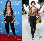 Laura Harrier in Louis Vuitton @  Hollywood Foreign Press Association's Grants Banquet