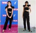 Millie Bobby Brown In Rosie Assoulin   @ 2018 MTV VMAs