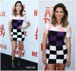 Shelley Hennig In Versace  @ Netflix's 'The After Party' Special Screening