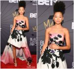 Storm Reid  In  Monique Lhuillier @ 2018 Black Girls Rock Awards