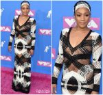 Tiffany Haddish In Naeem Khan @  2018 MTV VMAs
