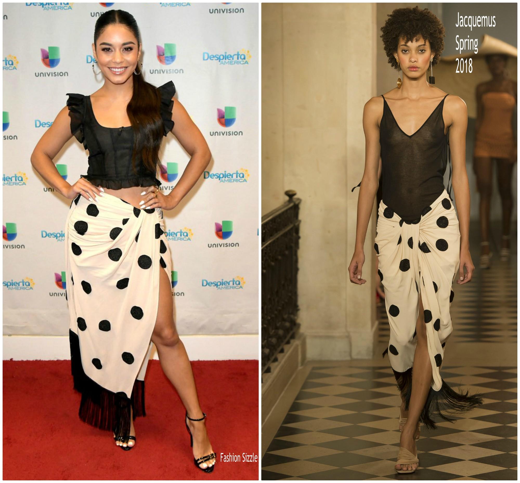 b35f9f9999f1 Vanessa Hudgens In Jacquemus   Despierta America - Fashionsizzle