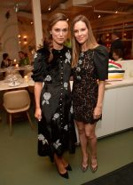Keira Knightley (in Erdem) and Hilary Swank (in Michael Kors) @ The Hollywood Reporter and Hudson's Bay celebration of 'Colette' and 'What They Had'