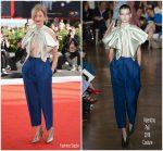 Alba Rohrwacher In Valentino Haute Couture  @ 'My Brilliant Friend' (L'Amica Geniale) Venice Film Festival Premiere