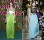 Alison Brie In Miu Miu  @ Green Carpet Fashion Awards Italia 2018