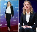 Amber Heard In Saint Laurent  @ 2018 Social Good Summit