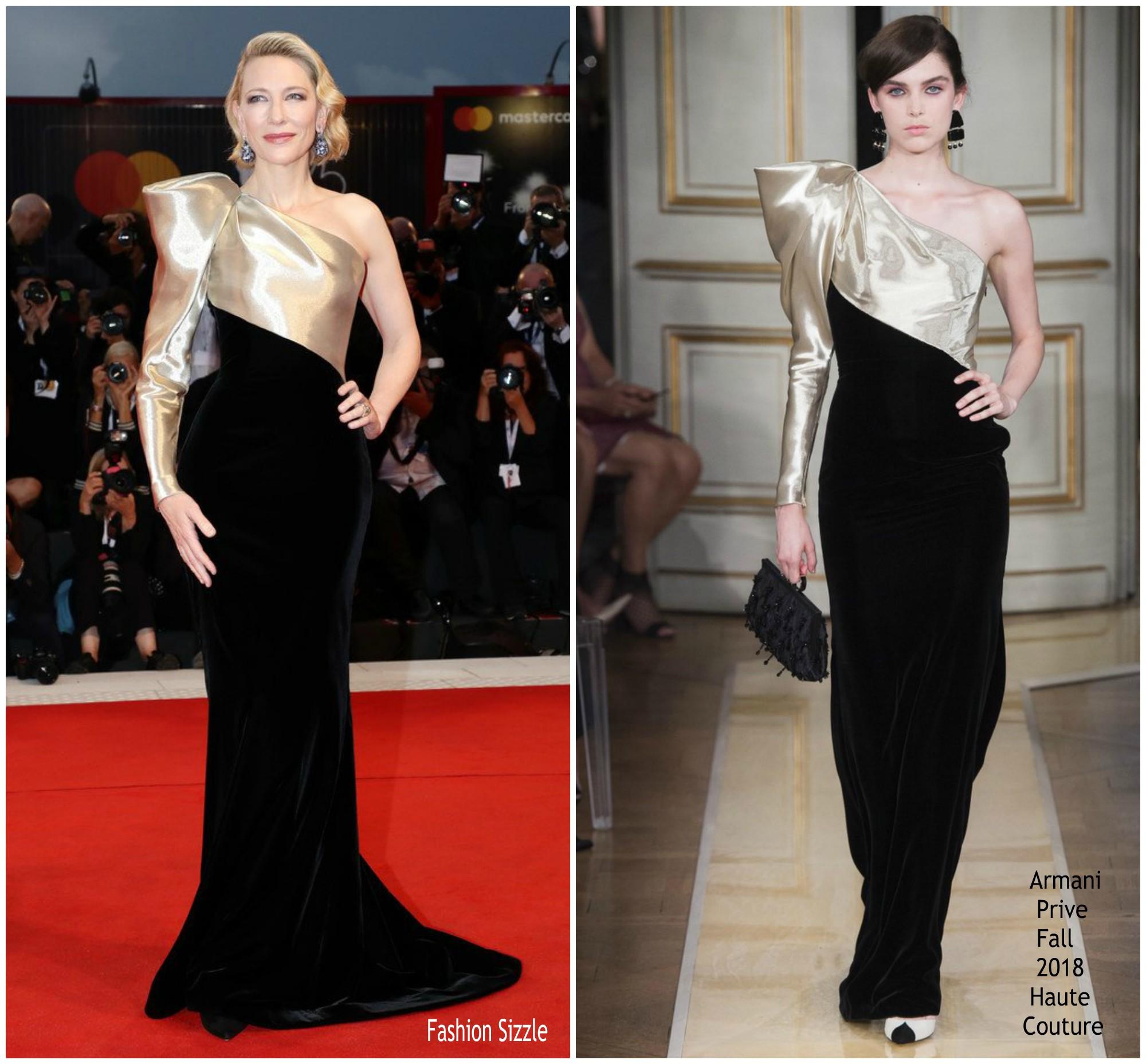 Cate Blanchett In Armani Prive Suspiria Venice Film Festival Premiere Review