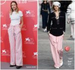 Christa Théret In Chanel In  Doubles Vies (Non Fiction) Venice Film Festival Photocall
