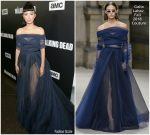 Christian Serratos In Galia Lahav  @ 'The Walking Dead' Season 9 Premiere