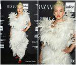 Christina Aguilera  In  Vivienne Westwood  @ 2018 Harper's Bazaar ICONS NYFW Event