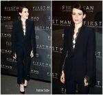Claire Foy In Alexander McQueen  @ 'First Man' Paris Premiere