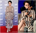 Claire Foy in Oscar de la Renta @ 'First Man' Toronto International Film Festival Press Conference