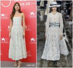 Dakota Johnson In Christian Dior  @ 'Suspiria' Venice Film Festival Photocall