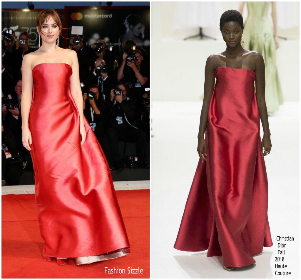 Dakota Johnson In Christian Dior Suspiria Venise Film Festival Premiere Venice Review