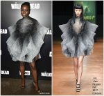 "Danai Gurira  In Iris Van Herpen  Couture  @ ""The Walking Dead "" Season 9  LA Premiere"