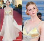 Elle Fanning  In  Miu Miu @  'A Star Is Born' Venice Film Festival Premiere