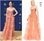 Ellie Kemper  In J .Mendel   @ 2018 Emmy Awards