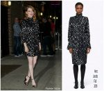 Emma Stone In  Marc Jacobs  @ The Late Show with Stephen Colbert