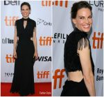 "Hilary Swank In  Prada @ "" What They Had  'Toronto International Film Festival Premiere"