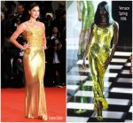 Irina Shayk In  Vintage Versace @ 'A Star Is Born' Venice Film Festival Premiere