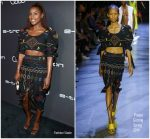 Issa Rae  In Prabal Gurung  @ Audi's Celebration of the 2018 Emmys