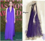 Julianne Moore In Salvatore Ferragamo  @ Green Carpet Fashion Awards Italia 2018
