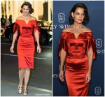 Katie Holmes In Zac Posen  @ Harry Winston Unveils 'New York Collection'